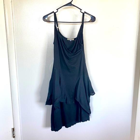 Prairie Underground Lagenlook Layered Black Dress